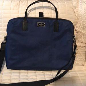Kate Spade laptop bag, navy blue and black trim